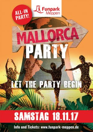 All-In-Mallorca Party im Funpark Meppen am Samstag, 18.11.2017